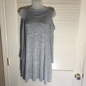 Grey cold shoulder dress - junior large